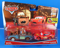 Disney PIXAR Cars Doppel Pack  Mater With no Tieres + Lihtning McQueen