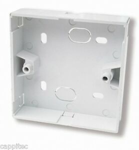 SINGLE GANG WHITE 22MM BACK BOX FOR BT NTE5 MASTER TELEPHONE SOCKET BY PRESSAC