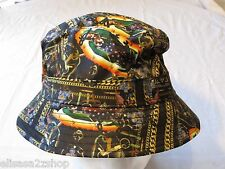 CROOKS AND & Castles gold chains cherubs NEW RARE Mens adult sun bucket hat cap