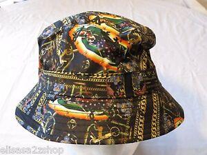 CROOKS AND & Castles gold chains cherubs NEW RARE Mens adult sun bucket hat cap