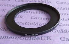 52mm to 72mm 52-72 Stepping Step Up Filter Ring Adapter