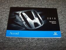 2010 Honda Accord Navigation System Owner Owner's Operator Manual LX EX EX-L