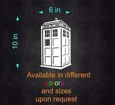 Vinyl Decal Sticker. Car, Window, Wall... Doctor Who - Tardis (6in x 10in)