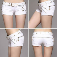New Ladies Short Pants Casual Jeans Sexy Denim Summer Shorts Casual Women Belt