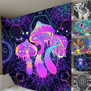 Tapestry Mushroom Printing Background Trippy Mandala Wall Hanger Psychedelic