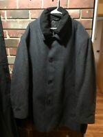 Men's Ralph Lauren wool blend dark gray and black warm and cozy coat 60R 5x 6x