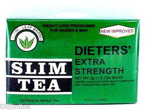 Nutri Leaf Tea Dieters Slim Tea Extra Strength for Weight Loss Diet 15 Bags