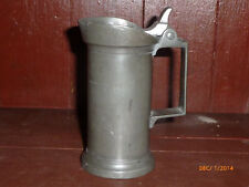 Antique Pewter Measure with Hinged Lid