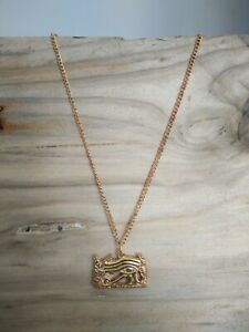 Egyptian Wadjet Eye Gold Plated Pendant On A Chain