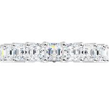 Full Eternity Band Wedding Ring 5.25 Ct Forever One Moissanite Asscher