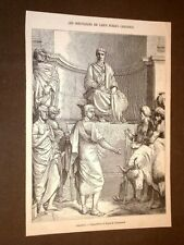 Gravure année 1872 Le sortilèges de Caius Furius Cresinus