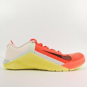 Nike Metcon 6 Bright Mango Gym Training Shoes AT3160 800 Womens Size 7.5