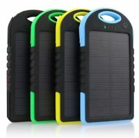 5000mAh Dual-USB Waterproof Solar Power Bank Battery Charger for Cell Phones