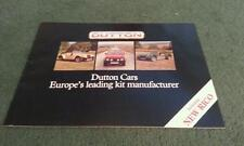 1984 1985 DUTTON Phaeton S3 Rico Melos 2+ Sierra - UK 32 PAGE KIT CAR BROCHURE