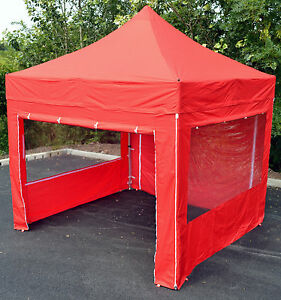 3mx3m Protex 50 pop up gazebo/instant shelter with sides 58mm hex - waterproof