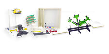 Silk Screen Printing Press 4 color/ 2 station, heat gun, exposure unit equipment