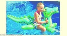 Poolmaster Jumbo Crocodile Rider Fun Pool Float .. Ages 6 & up .. New in box