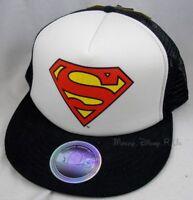 DC Comics Superman Logo Authentic Trucker Cap Flat Bill Hat New