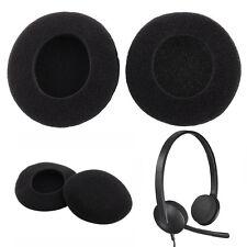 Coussins Mousse d'écouteurs Remplacement pour Logitech 35mm 1.38'' Casque Noir