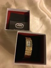By Marc Ecko: Women's Analog Quartz Jewel Affect Dress Bracelet Watch: Gold Tone