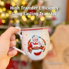 10 Sheet 8.5x11 WHITE INKJET Waterslide Decal Transfer Paper Water Slide Tumbler