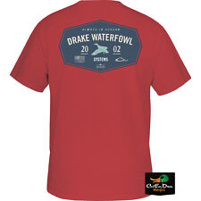 NEW DRAKE WATERFOWL SINCE 2002 LOGO S/S GRAPHIC T-SHIRT TEE CRIMSON RED 2XL