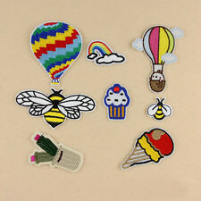 8pcs Embroidered Sew Iron on Patches Badge Fabric Cloth Applique Hornet Repair