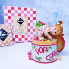 NEW My Little Kitchen Fairies 4-Flavor POPCORN TIN FAIRIE Holiday Fairy Figurine
