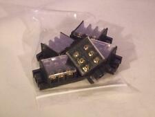 Qty 5..  3 Pole 25A 600V Barrier Dual Row Terminal Block Strip with Cover RoHS