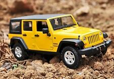 Maisto 1:24 2015 JEEP Wrangler Unlimited Diecast Metal Model Car New Yellow