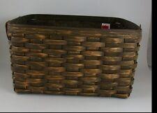 Longaberger Antique Medium Wash Basket Rare Prototype NWT