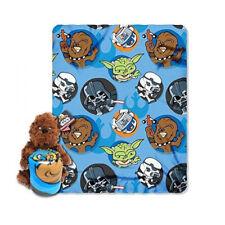New Star Wars Chewbacca Pillow / Hugger & Fleece Throw Blanket Set