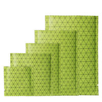 Green with Black Pattern Open Top Bags Flat Pouch Mylar Type Heat Sealant