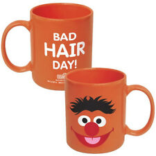 Sesame Street Ernie: Bad Hair Day Orange 12 oz Ceramic Coffee Mug, NEW UNUSED