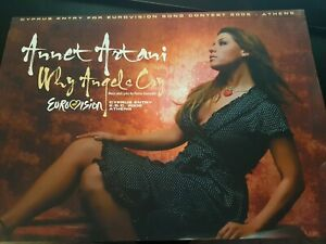 Eurovision 2006 Athens - Cyprus - Annet Artani - Why Angels Cry promo pack + CD