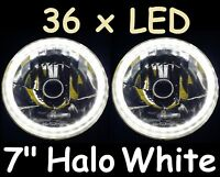 "7"" Halo WHITE Headlights Ford Falcon HO XA XB XC XK XL XM XP XR XT XW XY GS GT"