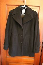 Women's Croft & Barrow Black Wool Winter Dress Coat Size Medium