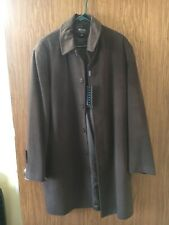 Vintage HUGO BOSS Brown Coat Jacket Made In Italy XXL