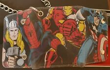 Marvel Comics Avengers Trifold Genuine Leather Wallet with Chain Collectors Tin