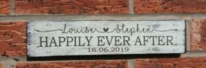Wedding mr & mrs signs established free standing rustic shabby vintage top table