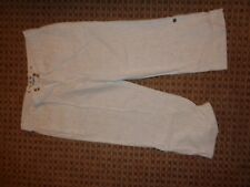 E-Vie-LADIES CROP LINEN TROUSERS SIZE 14 SMART CASUAL WORK WIDE STRAIGHT EVERYDA