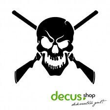 Skull with Shotguns // Sticker JDM Aufkleber Frontscheibe
