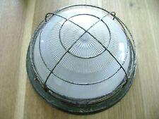 ancienne lampe,ancien verre de lampe hublot d usine .BLOC.neuf