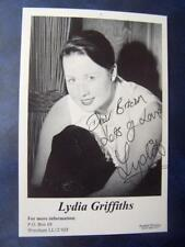 Lydia Griffiths    - Autograph (BC2)  6 x 4    inch  - pin hole to top