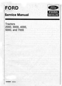 Ford 2000 3000 4000 5000 7000 Tractors Dealers Workshop Manual