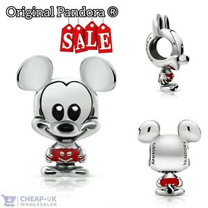 Original Pandora ® Disney Mickey Mouse Red Trousers 798905C01 Charm S925 ALE