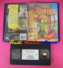 VHS film ROBIN HOOD 2004 animazione WALT DISNEY VS 4362 classici (F82) no dvd