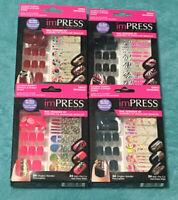 4 Kiss Impress Press on Manicure Nail Designer Kit Lot