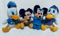 """A Christmas Carol Plush 8"""" And Under Lot Of 4 Mickey Minnie Donald Scrooge"""
