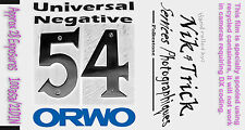 Orwo UN54 100asa black & white film